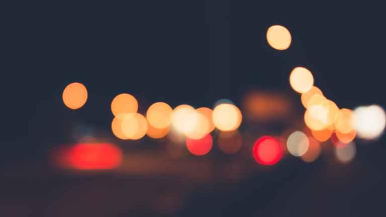 lights night blur traffic